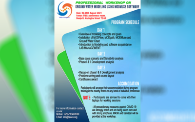 Professional workshop on Ground water modeling using ModMuse Software – Program Schedule