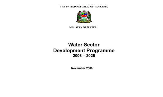 Water sector status report